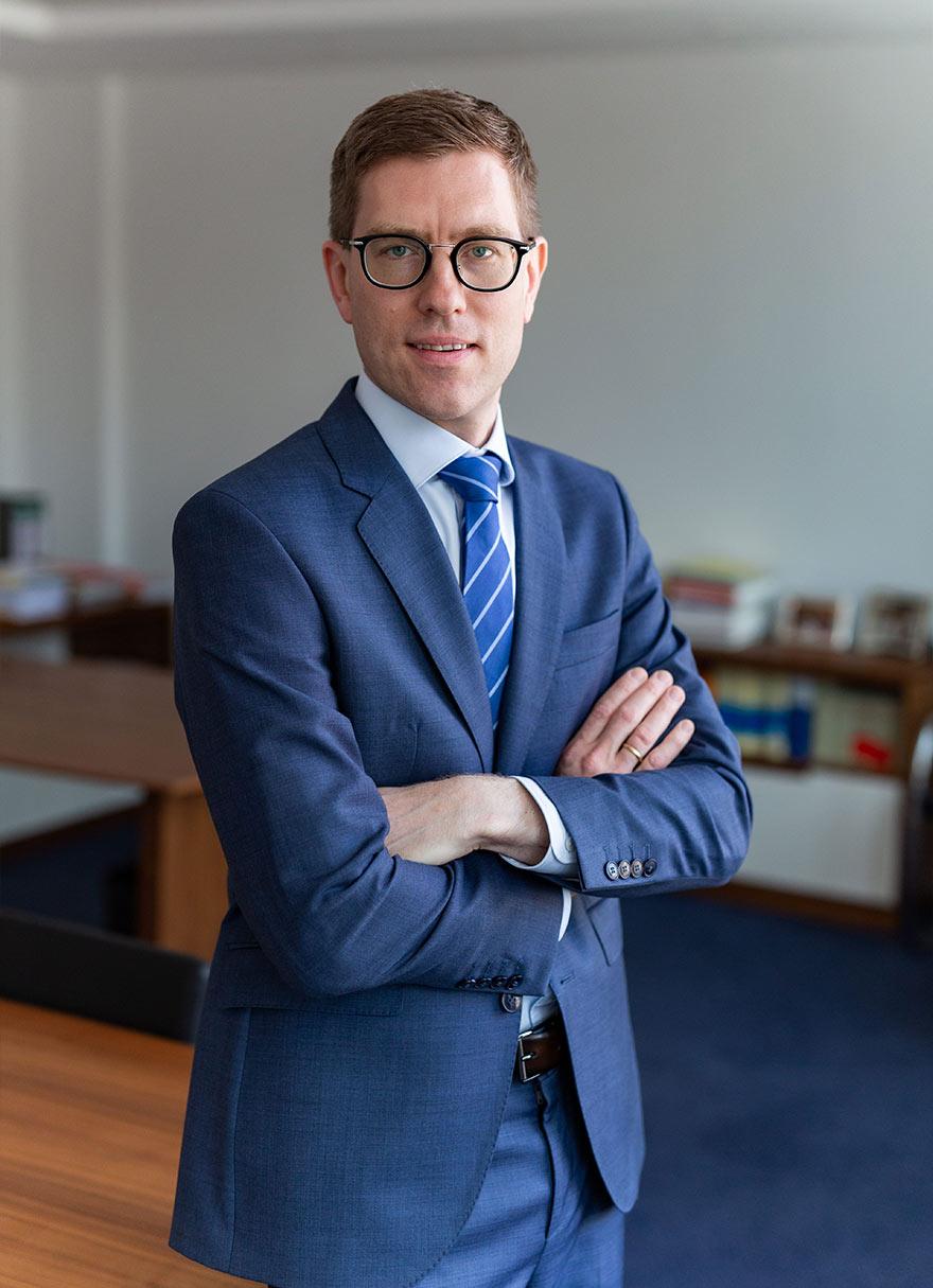 Portrait von Bernhard Weiß, Notar in München